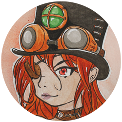SteamPunk Girl Lips